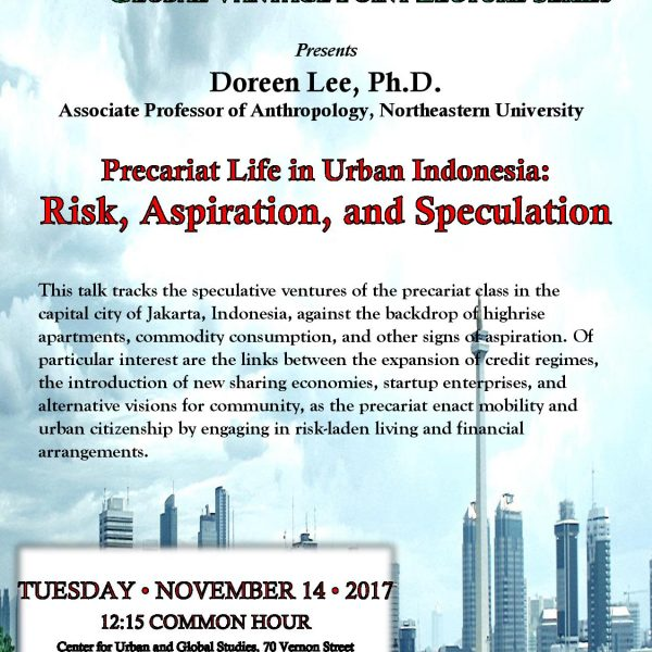Precariat Life in Urban Indonesia: Risk, Aspiration and Speculation